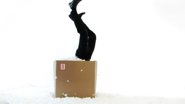 Box Digging Businessman