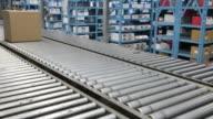 Box on a Conveyor Belt