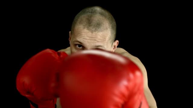HD SLOW MOTION: Boxer Punching At The Camera