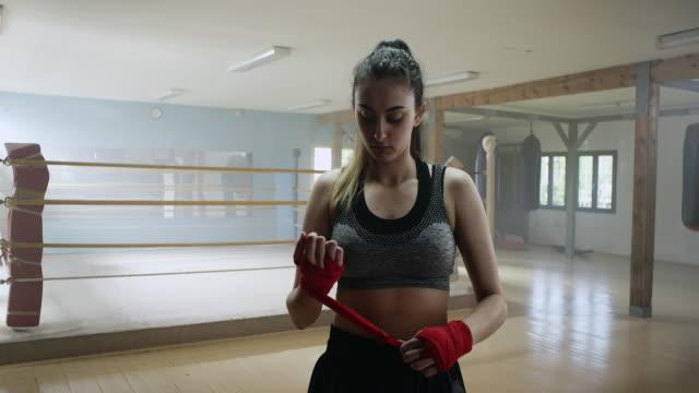 Boxer setzen auf Seite wraps