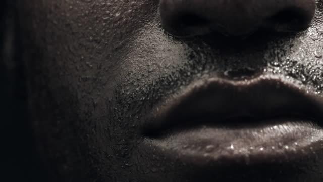ECU Boxer's sweaty face