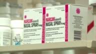 WGN Boxes of Narcan Naloxone Nasal Spray on Shelves in Chicago on September 19 2016