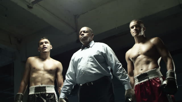 Boxing champion, defeated boxer and referee