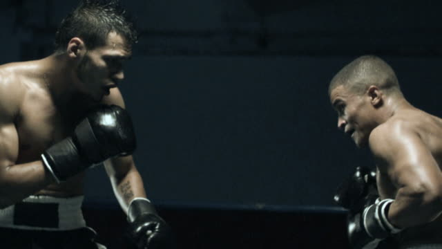 Boxing match, slow motiion
