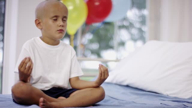 Boy at Hospital Meditating