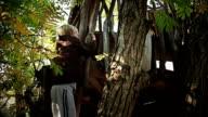 HD: Boy Climbing on A Treehouse