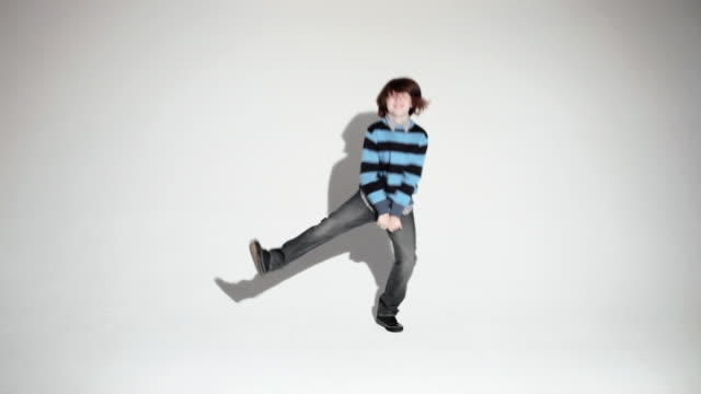 Boy doing a silly dance