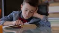 Boy doing his homework