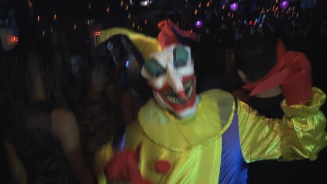 MS CU Boy (12-13) in Jack in the Box dancing in night club / Miami, Florida, USA