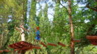 boy in the municipal rope park