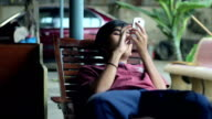 Boy play Smart Phone