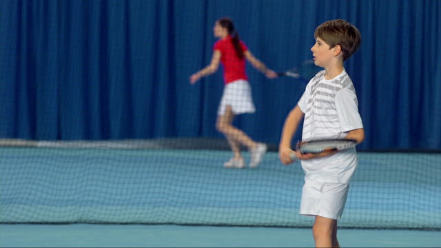 MS Boy Practicing The Tennis Shots