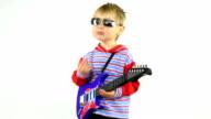 boy - rock guitarist