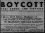 Boycott Nazi Goods Demonstration announcement / New York USA