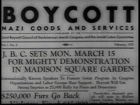 Boycott Nazi Goods Demonstration announcement / New York USA