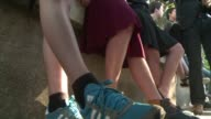 Boys at schools in the French town of Nantes turn up to class in skirts as part of an anti sexism initiative