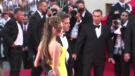 Brad Pit and Angelina Jolie walk the Red Carpet May 24 2007 at the Cannes Film Festival for the film OCEANS 13 Brad Pitt and Angelina Jolie at 2007...