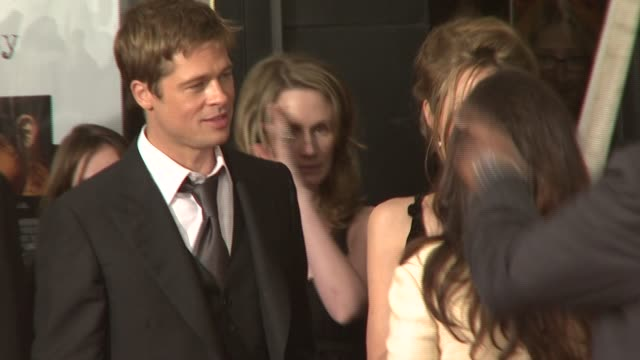 Brad Pitt and Angelina Jolie at the 'A Mighty Heart' Premiere at Ziegfeld Theatre in New York New York on June 13 2007