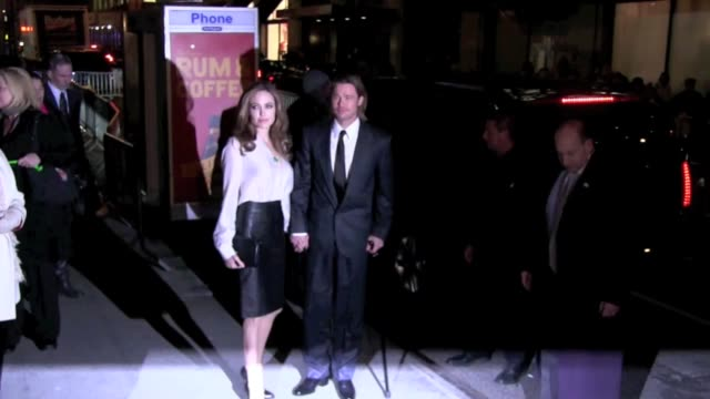 Brad Pitt and Angelina Jolie at the New York Film Critics Circle Awards on 1/9/2012