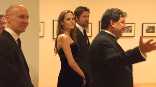Brad Pitt Angelina Jolie at the MOCA NEW 30th Anniversary Gala at Los Angeles CA