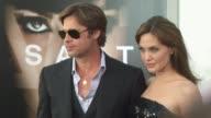 Brad Pitt Angelina Jolie at the 'Salt' Premiere at Los Angeles CA