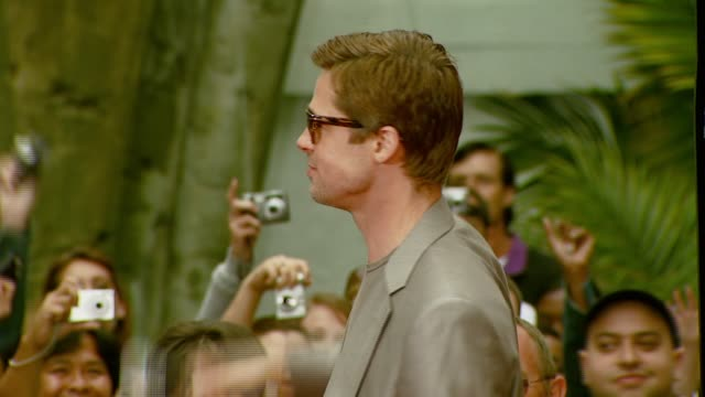 Brad Pitt at the 'Ocean's Thirteen' Handprint and Footprint Ceremony at Grauman's Chinese Theatre in Hollywood California on June 5 2007