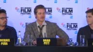 INTERVIEW Brad Pitt on researching his role for the film while Angelina Jolie was researching her film comparing the films at 'Fury' Press Conference...