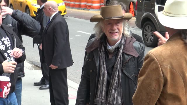 Brad Whitford of Aerosmith outside the Late Show in New York NY on 11/01/12