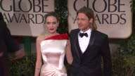 Bradd Pitt and Angelina Jolie at 69th Annual Golden Globe Awards Arrivals on January 15 2012 in Beverly Hills California