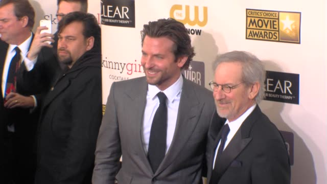 Bradley Cooper Stephen Spielberg at 18th Annual Critics' Choice Movie Awards 1/10/2013 in Santa Monica CA