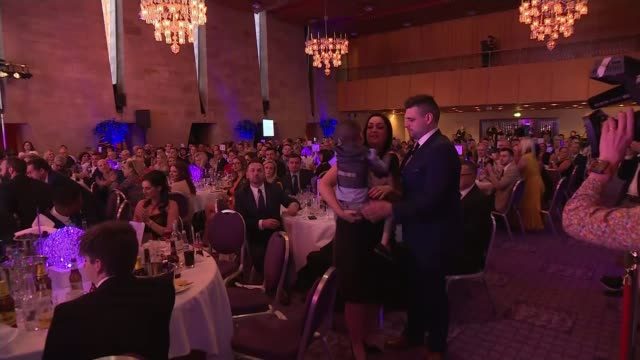 Bradley Lowery passes away aged six LIB / T19051749 Civic Centre INT Bradley Lowery being announced as winner of award at the Pride of the North East...
