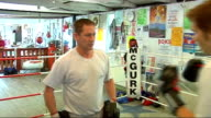 Bradley Saunders in training for Olympics Saunders sparring with his father throwing combination punches Kerr spars with Jeff Saunders Interview with...