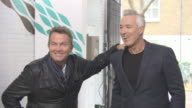 Bradley Walsh and Martin Kemp with Giant Crocodile Photocall at ITV Studios on September 25 2017 in London England