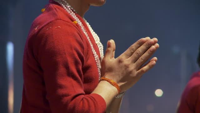 Brahmin priest hands