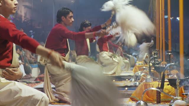Brahmin Priests with Yak Tail fan