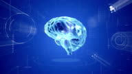Brain animation. Medical video background