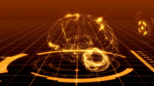Brain hightech Background Orange
