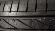 Brand new car tire - tire tread