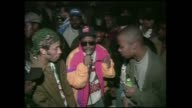 Brand Nubian freestyle rap performance during interview at Club Kilimanjaro in New York City