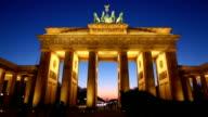 HD: Brandenburg Gate at night, Berlin