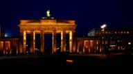 Brandenburg Gate At Night (4K/UHD to HD)