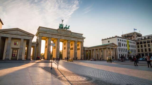 Brandenburger Tor at sunset, Berlijn
