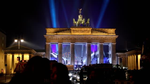 Brandenburg Gate on New Year's Eve night