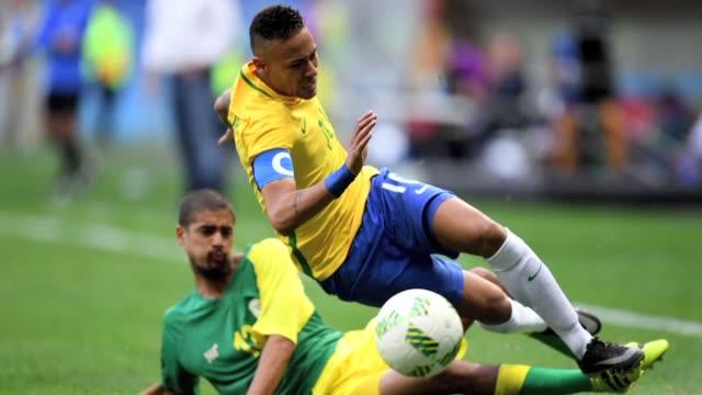 Brasil comenzo con una deuda costosa su camino en el torneo de futbol masculino de los Juegos Olimpicos de Rio al empatar 00 este jueves con Sudafrica