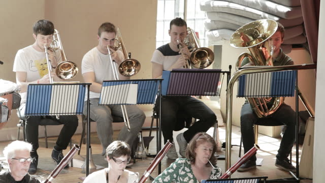 Brass section of orchestra