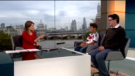 London schoolboy to be mascot at World Cup final ENGLAND London GIR INT Alexander Degtiarev and Igor Degtiarev LIVE studio interview SOT