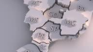 3 D Karte von Brasilien mit Staaten Animation