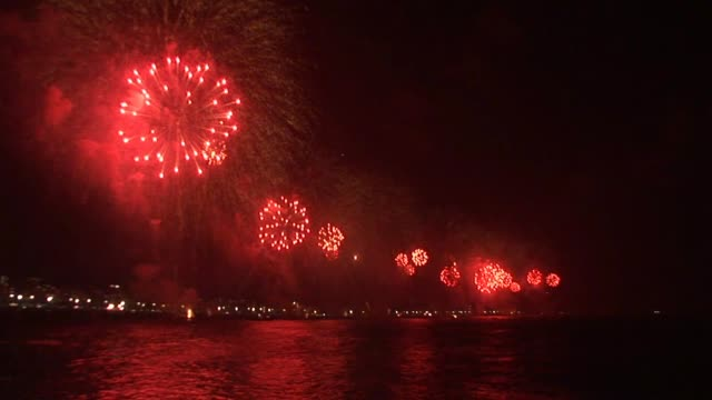 CLEAN Brazil marks the start of year 2012 with fireworks display on the beach in Copacabana Brazil welcomes the New Year with fireworks display on...