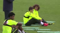 Brazil train in Santiago ahead of their World Cup qualification match against Chile