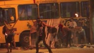 Brazilian police fired teargas and stung grenades Friday to disperse street riots after protests against public transport fare hikes turned violent